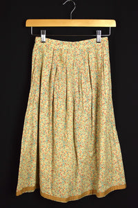 Reworked Skirt with Delicate Floral Print