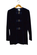 Load image into Gallery viewer, Ladies Royal Blue Velour Jacket
