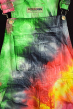 Load image into Gallery viewer, Reworked London Jean Brand Tie Dye Long Overalls