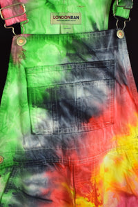 Reworked London Jean Brand Tie Dye Long Overalls