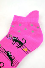 Load image into Gallery viewer, NEW Musical Cats Anklet Socks