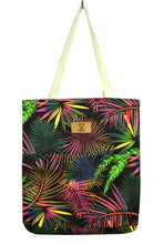 Load image into Gallery viewer, NEW Fluro Floral Tote Bag