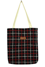 Load image into Gallery viewer, NEW Checkered Print Tote Bag