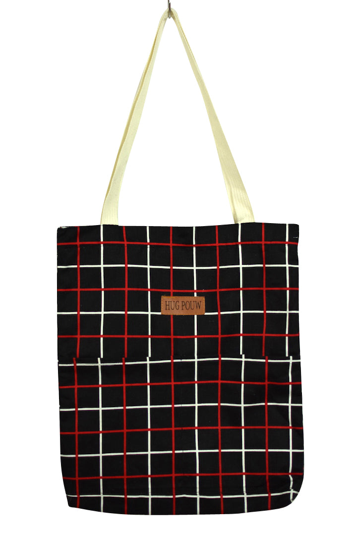 NEW Checkered Print Tote Bag