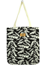 Load image into Gallery viewer, NEW Feather Print Tote Bag