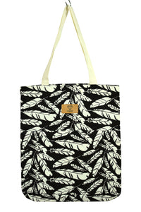 NEW Feather Print Tote Bag