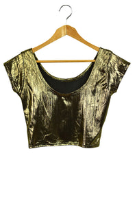 NEW Shimmer Gold Ladies Crop Top