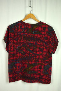 80's Paisley Print Blouse by Craig Clothing Co