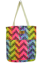 Load image into Gallery viewer, NEW Fluro Leopard Print Tote Bag