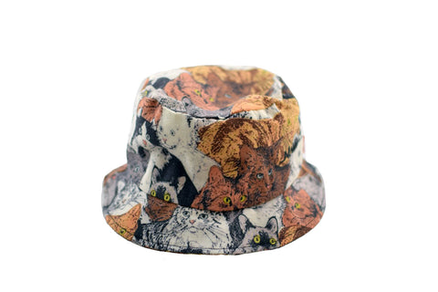 NEW Cats Print Bucket Hat