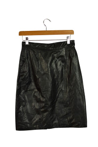 Linea Privata Brand Leather Skirt