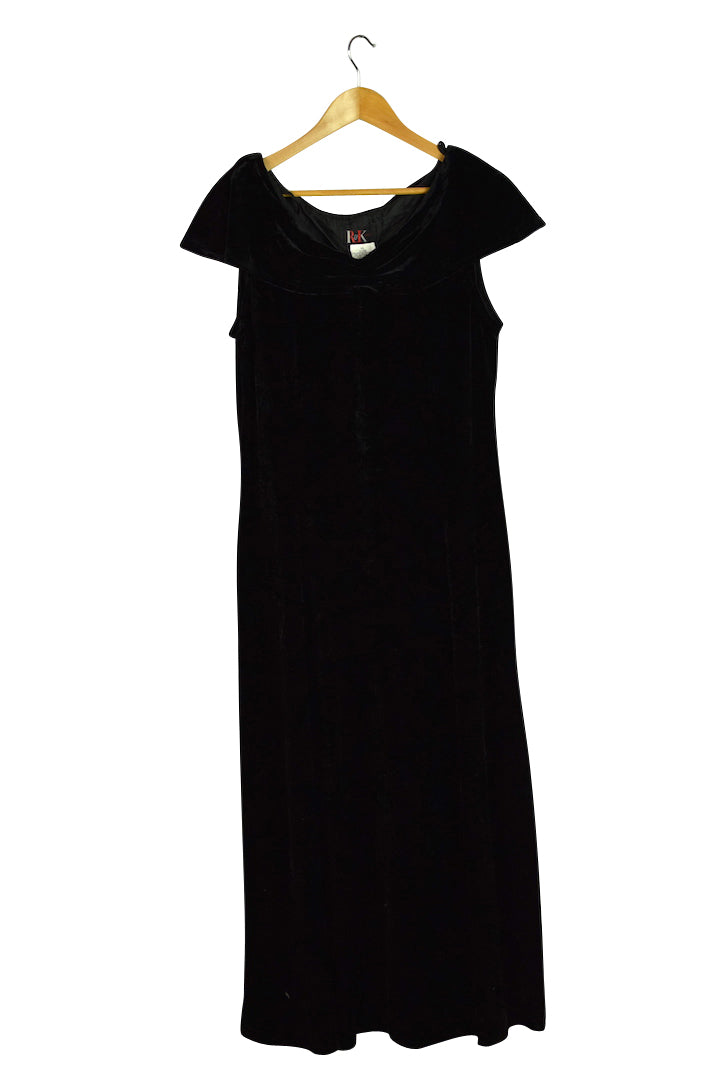 R&K Originals Brand Black Velour Dress