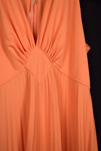 70s Tangerine Party Dress