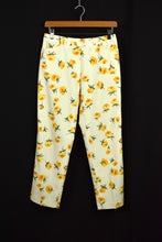 Load image into Gallery viewer, Ladies Pants Cream with Yellow Roses