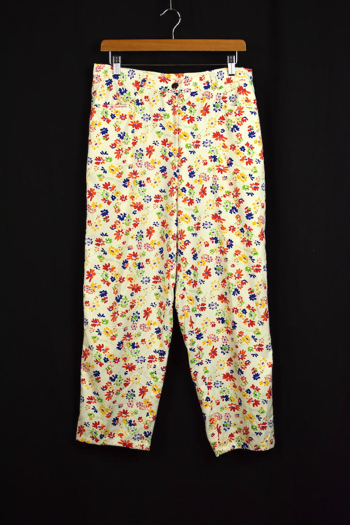 Ladies Bold Spring Flower Pants