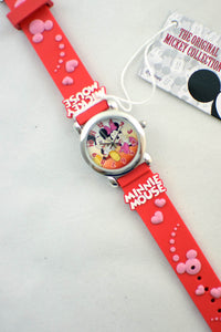 Red Mickey & Minnie Mouse Watch