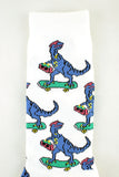 NEW Dinosaurs on Skateboards White Socks