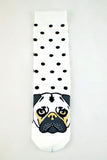 NEW White and Black Polkadot Pug socks