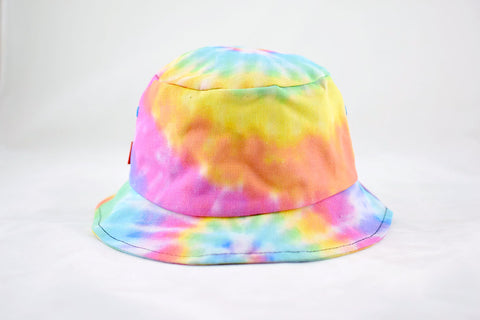 NEW Pastel Rainbow Tie-Dye Bucket Hat