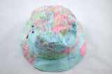 NEW World Map Print Bucket Hat