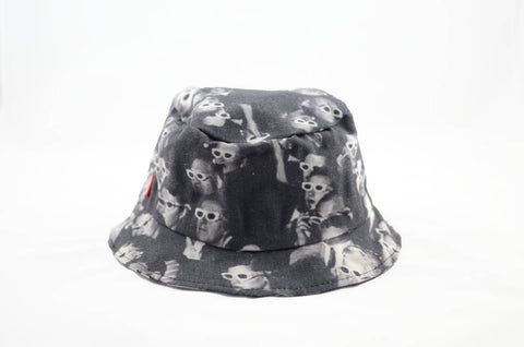 NEW Skeleton Print Bucket Hat