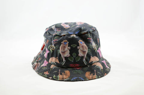 NEW Monkey Print Bucket Hat