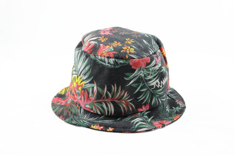 NEW Black Ferny Hawaiian Bucket Hat