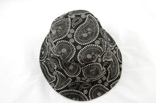 Load image into Gallery viewer, NEW Black and White Paisley Print Bucket Hat