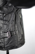 Load image into Gallery viewer, Reworked Black Leather Bikers Jacket