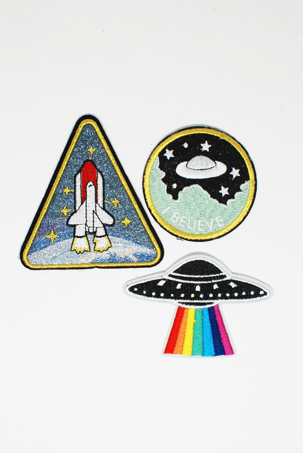 Spaceship Themed Patch Pack