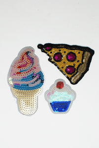 Sequin Food Patch Patch