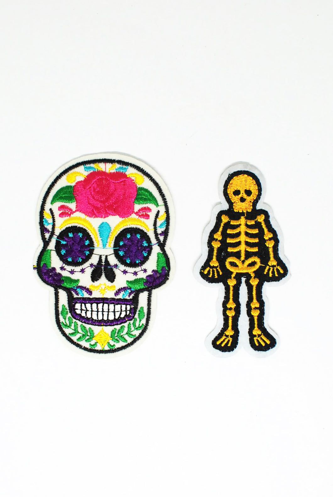 Skeleton Themed Patch Pack