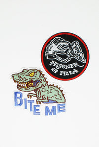 Bite Me Themed Patch Pack