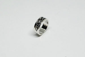 Stainless Steel Ring with Wave Design