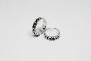Stainless Steel Ring with Dots