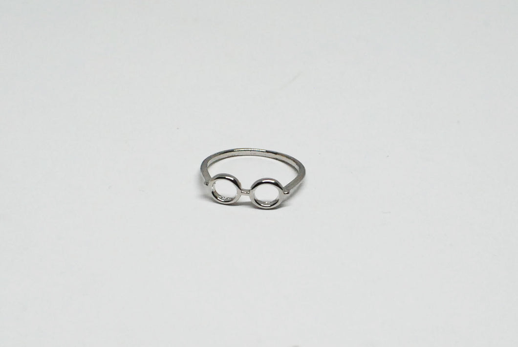 Fine Silver Circles Ring