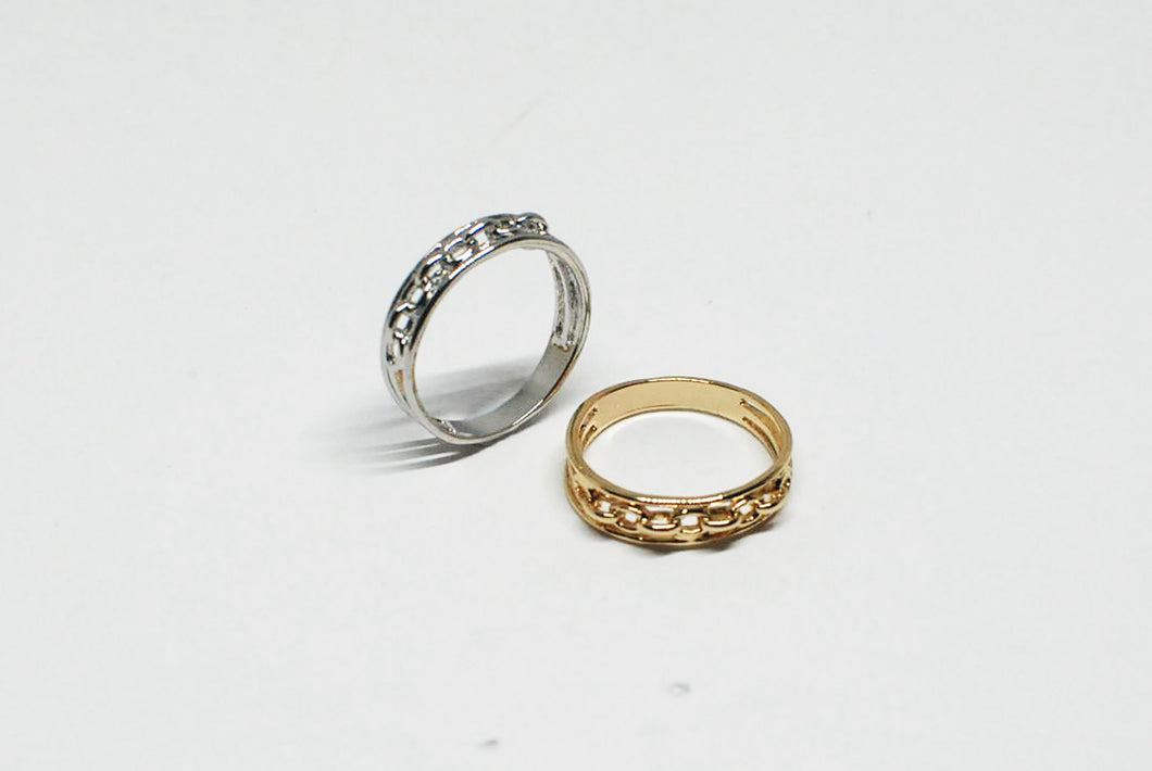 Silver/Gold Chain Ring