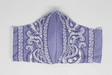 Load image into Gallery viewer, Purple Paisley Face Mask