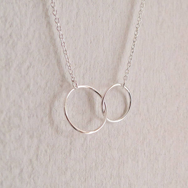2 linked hoop necklace