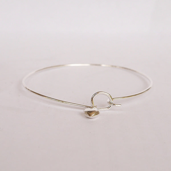 Sterling Hook On Bracelet with Heart