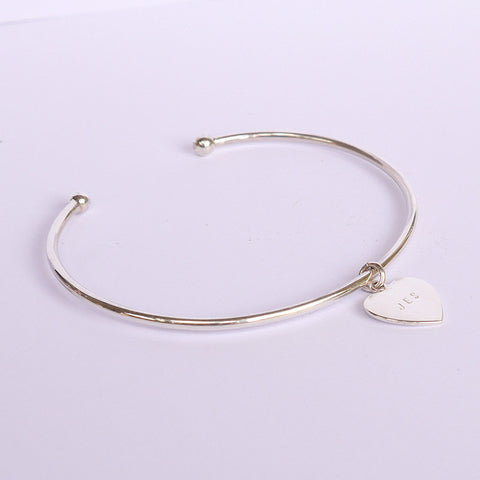 Cuff Bracelet with Love Tag