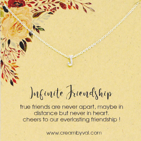 Initial Necklace For Best Friend