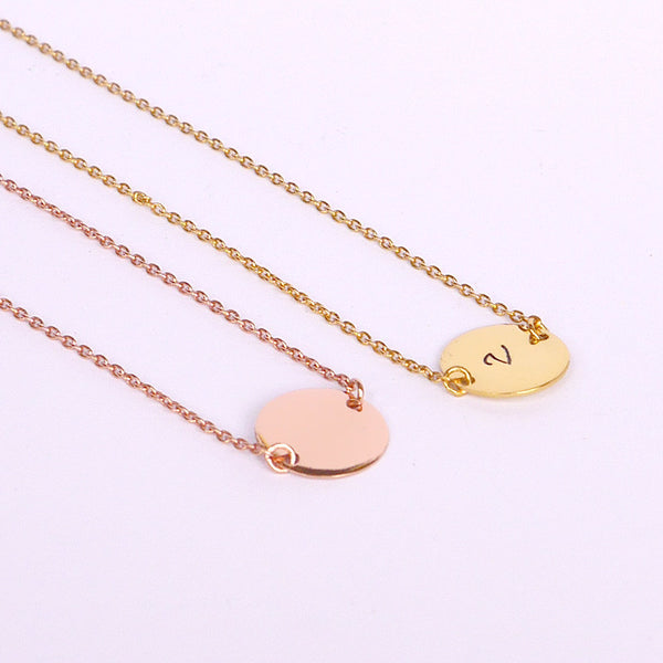 Dainty Vermeil Initial Necklace