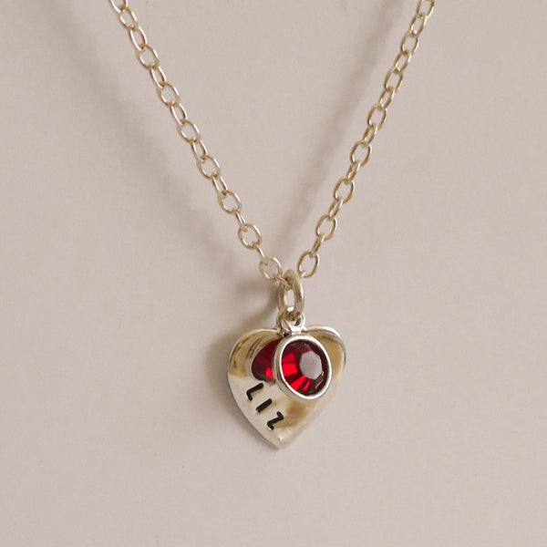 Birthstone Love Tag Necklace
