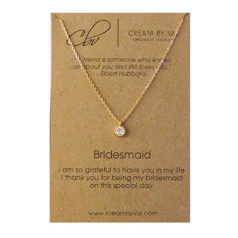 Dainty Bridesmaid Gift