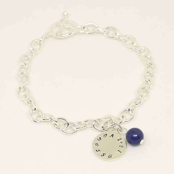 Personalized Bracelet With Lapis