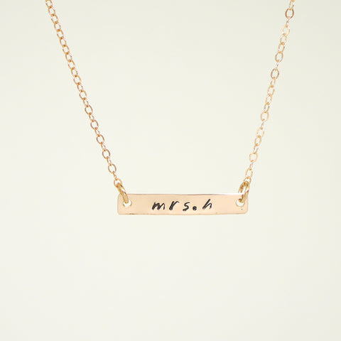 Personalized Rose Gold Filled Necklace
