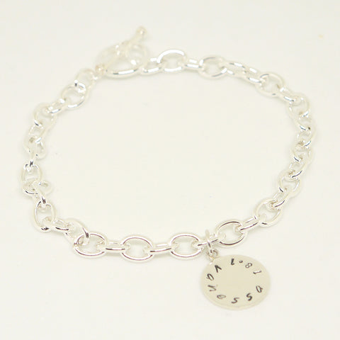Personalized Thick Sterling Bracelet