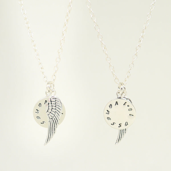 Personalized Wing Necklace