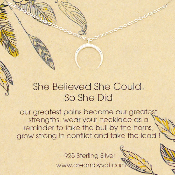 she believed she could so she did necklace